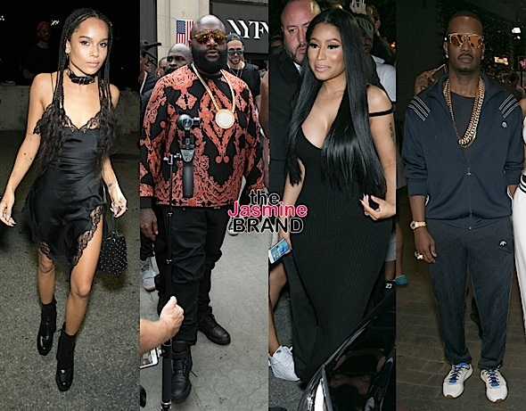 Nicki Minaj, Zoe Kravitz Hit Alexander Wang + Rick Ross, Juicy J, Whoopi Goldberg Invade 'Hood By Air' Show [NYFW Photos]