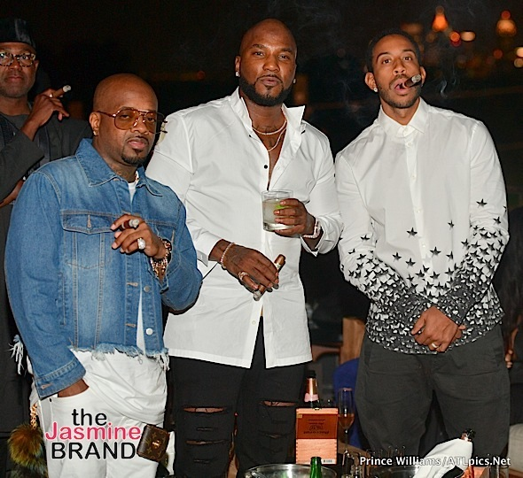 Jermaine Dupri, Ludacris, Monyetta Shaw, Monyetta Shaw, Mayor Kasim Reed Spotted at Jeezy's Dinner