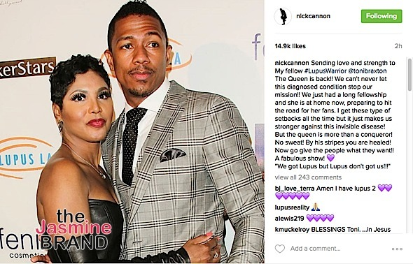 Toni Braxton Released From Hospital + Nick Cannon Pens Sweet Message: By his stripes you are healed!