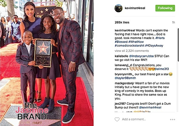 Kevin Hart Snags Star On Hollywood Walk of Fame: Torrei Hart, Ice Cube, Halle Berry Attend [Photos]