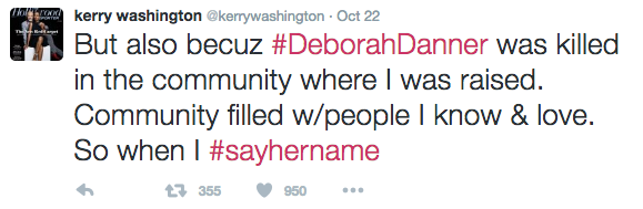 Kerry Washington Opens Up About Black Lives Matter & Death Of Deborah Danner