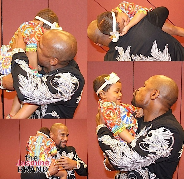 Floyd Mayweather Is A Father Figure To Lil Kim's Daughter [Photos]