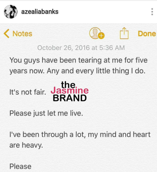 Azealia Banks Begs For Trolls & Haters To Leave Her Alone: Just let me live!
