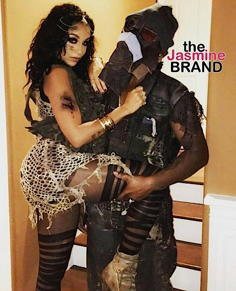 Neyo & wife Crystal Smith as Mad Max