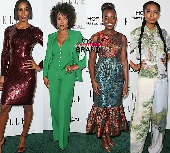 Women In Hollywood Awards: Kelly Rowland, Vivica Fox, Lupita Nyong'o, Yara Shahidi, Tracee Ellis Ross, Michelle Williams, Regina King, Aja Naomi King Attend