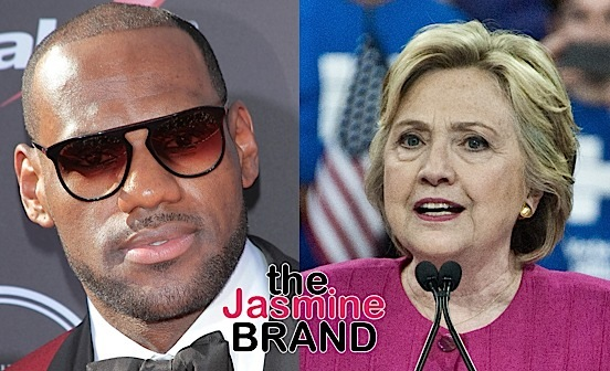 LeBron James Endorses Hillary Clinton: I believe she will continue Obama's legacy.