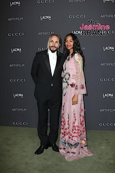 Marco Perego & wife Zoe Saldana