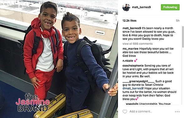 Matt Barnes Claims He Isn't 'Allowed' To See Sons
