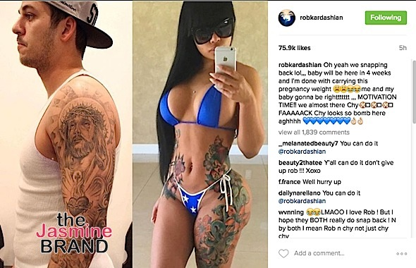 Rob Kardashian Promises To Lose His 'Pregnancy Weight'