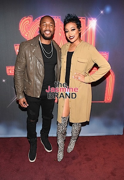 "LAS VEGAS, NV - NOVEMBER 03: Singers Tank (L) and Monica attend ""Acoustically Speaking Sponsored by Toyota"" at House of Blues during Soul Train Weekend on November 3, 2016 in Las Vegas, Nevada. (Photo by Paras Griffin/BET/Getty Images for BET)"