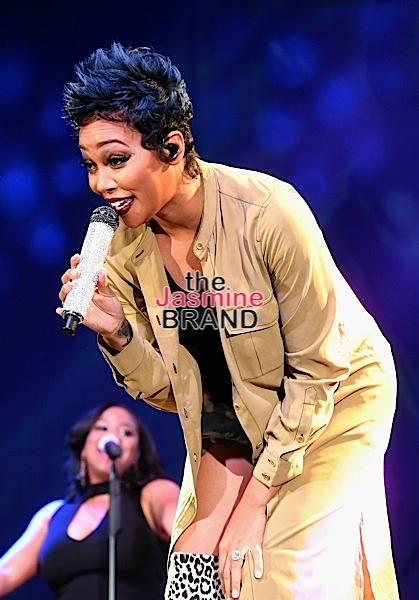 "LAS VEGAS, NV - NOVEMBER 03: Singer Monica performs during ""Acoustically Speaking Sponsored by Toyota"" at the House of Blues during Soul Train Weekend on November 3, 2016 in Las Vegas, Nevada. (Photo by Paras Griffin/BET/Getty Images for BET)"