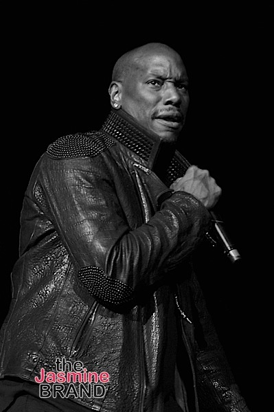 LAS VEGAS, NV - NOVEMBER 04: (EDITORS NOTE: Image has been shot in black and white. Color version not available.) Singer/Actor Tyrese Gibson performs onstage during 2016 Soul Train Music Awards - Soul Train Music Fest on November 4, 2016 in Las Vegas, Nevada. (Photo by Paras Griffin/BET/Getty Images for BET)