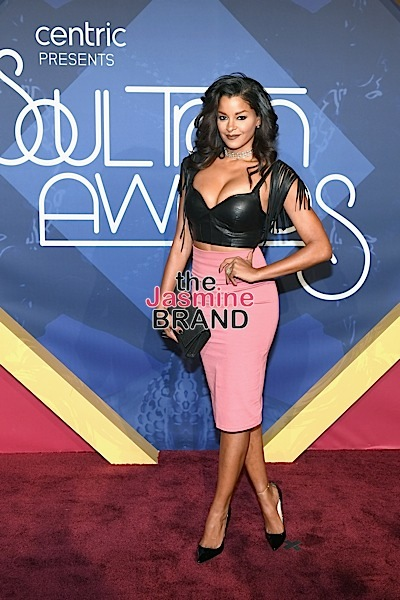 LAS VEGAS, NV - NOVEMBER 06: Actress Claudia Jordan attends the 2016 Soul Train Music Awards at the Orleans Arena on November 6, 2016 in Las Vegas, Nevada. (Photo by Ethan Miller/Getty Images)