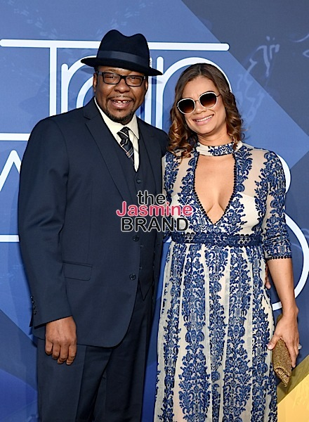 LAS VEGAS, NV - NOVEMBER 06: Recording artist Bobby Brown (L), and tv producer Alicia Etheredge attend the 2016 Soul Train Music Awards at the Orleans Arena on November 6, 2016 in Las Vegas, Nevada. (Photo by Ethan Miller/Getty Images)