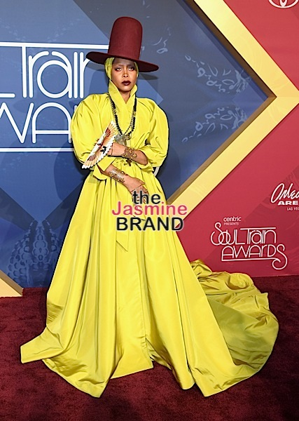 LAS VEGAS, NV - NOVEMBER 06: Host Erykah Badu attends the 2016 Soul Train Music Awards at the Orleans Arena on November 6, 2016 in Las Vegas, Nevada. (Photo by Ethan Miller/Getty Images)