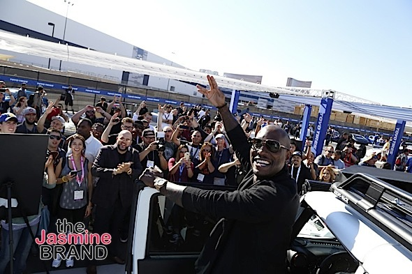 "LAS VEGAS, NV - NOV.4th: Tyrese greets fans at Tyrese Gibson Launches Voltron Motors ""Rebel Jeep"" at SEMA Show at The Las Vegas Convention Center on Friday, November 4, 2016 in Las Vegas, Nevada. (Photo Courtesy of: Voltron Media/Arnold Turner)"