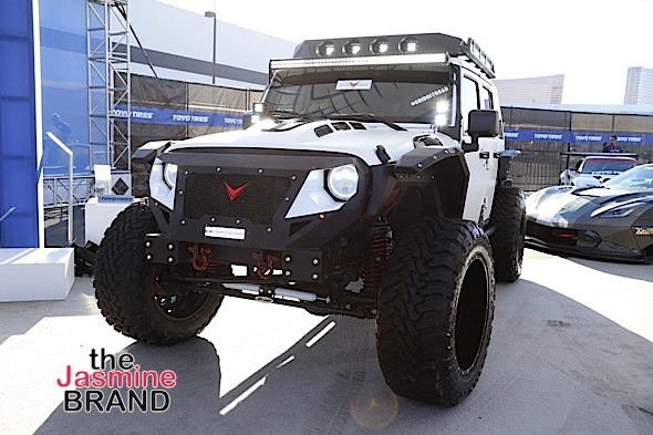 "LAS VEGAS, NV - NOV.4th: ""Rebel Jeep"" general view at Tyrese Gibson Launches Voltron Motors ""Rebel Jeep"" at SEMA Show at The Las Vegas Convention Center on Friday, November 4, 2016 in Las Vegas, Nevada. (Photo Courtesy of: Voltron Media/Arnold Turner)"