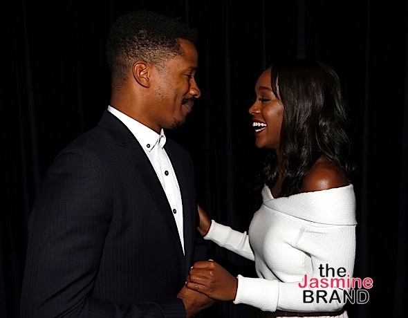 "LOS ANGELES, CA - NOVEMBER 7: Actor and director Nate Parker and actress Aja Naomi King attend 48TH NAACP Image Awards Presents A Special Screening of ""Birth of A Nation"" at FOX Studios 