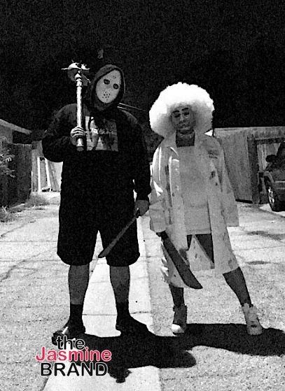 Rob Kardashian and Blac Chyna channel the Purge movie.