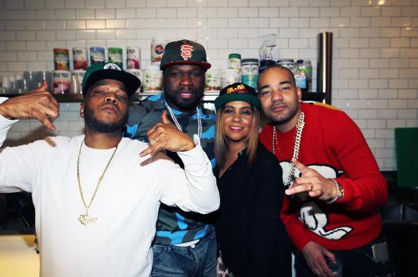 Styles P, 50 Cent, Angela Yee, DJ Envy
