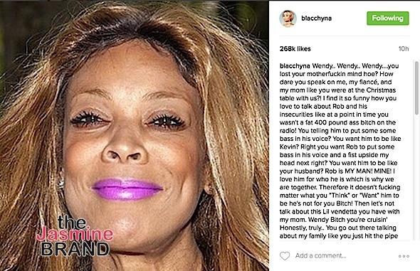 Blac Chyna to Wendy Williams: B*tch f**k you! + Tokyo Toni Threatens To Sue Talk Show Host