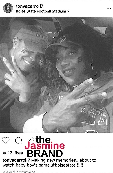 Tonya allegedly attends the same football game as Ed.