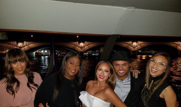 Adrienne Bailon & Fiance Kick Off Wedding Weekend in Paris [Photos]