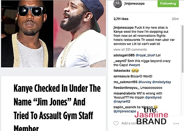 Kanye West Accused of Assaulting Gym Employee, Allegedly Put On Psychiatric Hold & Used 'Jim Jones' Alias