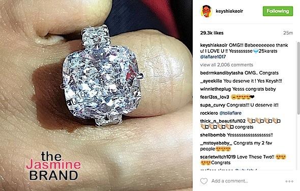Gucci Mane Proposes To Keyshia Kao'ir With 25Karat Ring!