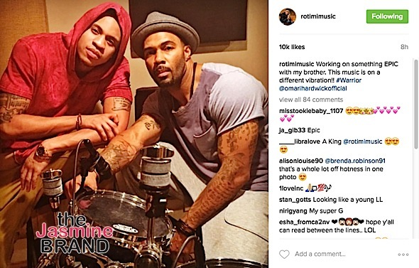 R.Kelly & Mariah Carey Hint At New Music + Omari Hardwick & Rotimi Hit The Studio [Photos]