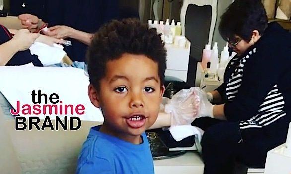 Amber Rose's Son Gets Manicure & Pedicure: F**k gender roles! [VIDEO]