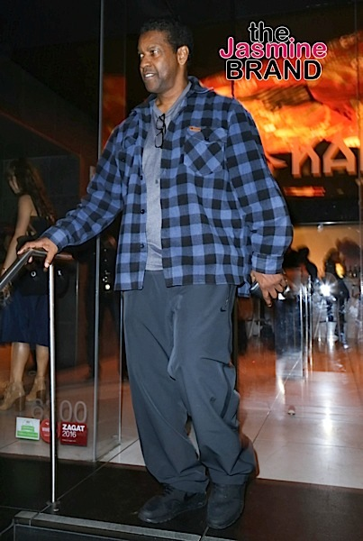 Denzel Washington Sighted at Katsuya Hollywood on November 14, 2016