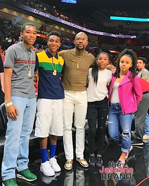 Tammy Rivera Backs It Up On Hubby, Mayweather Hits NBA Game With Kids, Derrick Rose & Girlfriend Serve PDA + Tiffany Foxx, LeToya Luckett, Jason Momoa, Leon Robinson
