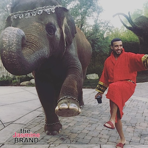 French Montana Gets A Pet Elephant For His Birthday, Animal Rights Activists PISSED [Photos]