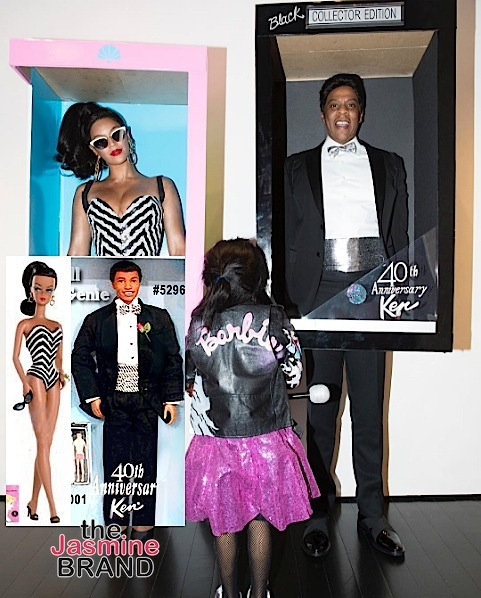 Beyonce, Jay Z & Blue Ivy Transform Into Black Barbie & Ken [Photos]