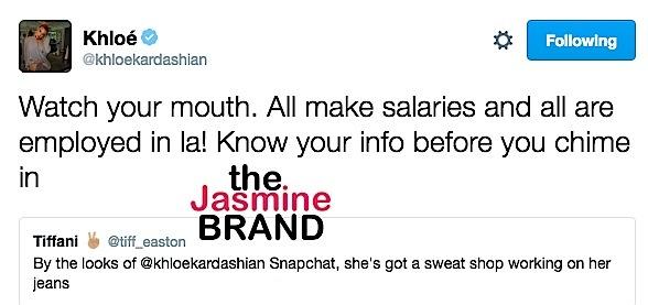 Khloe Kardashian Accused of Running A Sweat Shop [Photos]
