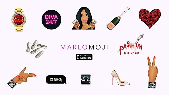 "Marlo Hampton Launches ""Marlomoji!"" Emoji Stickers"