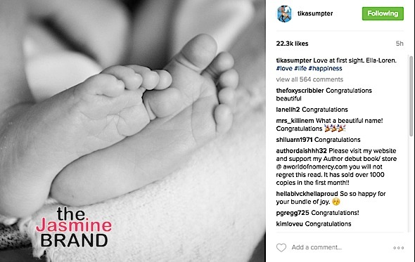 Tika Sumpters Gives A Glimpse of Newborn Daugher, Jussie Smollet-Bell Welcomes Son + See Dream Kardashian's Adorb Filter
