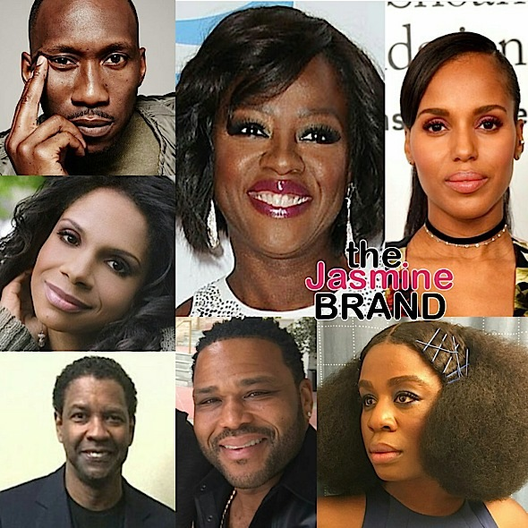 Denzel Washington Viola Davis Kerry Washington Anthony Anderson Mahershala Ali Audra Mcdonald Uzo Aduba More Snag Sag Award Nominations Thejasminebrand