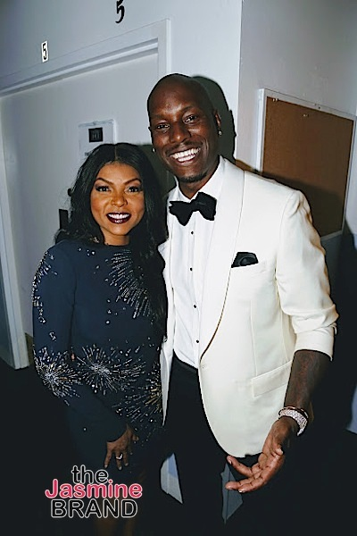 BEVERLY HILLS, CA - DECEMBER 08: Taraji P. Henson and Tyrese BTS at Taraji's White Hot Holidays TV Special at the Saban Theatre as seen on Fox TV Thursday, December 8, 2016 in Beverly Hills, California. (Photo by A Turner Archives)