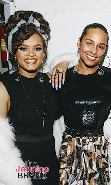 BEVERLY HILLS, CA - DECEMBER 08: Andra Day and Alicia Keys BTS at Taraji's White Hot Holidays TV Special at the Saban Theatre as seen on Fox TV Thursday, December 8, 2016 in Beverly Hills, California. (Photo by A Turner Archives)
