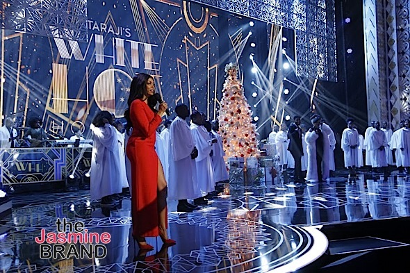 BEVERLY HILLS, CA - DECEMBER 08: BTS at Taraji's White Hot Holidays TV Special at the Saban Theatre as seen on Fox TV Thursday, December 8, 2016 in Beverly Hills, California. (Photo by A Turner Archives)