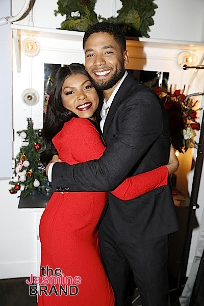 BEVERLY HILLS, CA - DECEMBER 08: Taraji P. Henson and Jussie Smollett BTS at Taraji's White Hot Holidays TV Special at the Saban Theatre as seen on Fox TV Thursday, December 8, 2016 in Beverly Hills, California. (Photo by A Turner Archives)