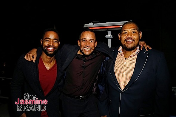 HOLLYWOOD, CA - DECEMBER 05: Actors Jay Ellis, Hill Harper and Omar Benson Miller seen Hill Harper & Nate Parker 9th Annual Manifest Your Destiny Toy Drive & Fundraiser at the W Hotel on Tuesday, December 5, 2016 in Hollywood, California. (Photo by A Turner Archives)