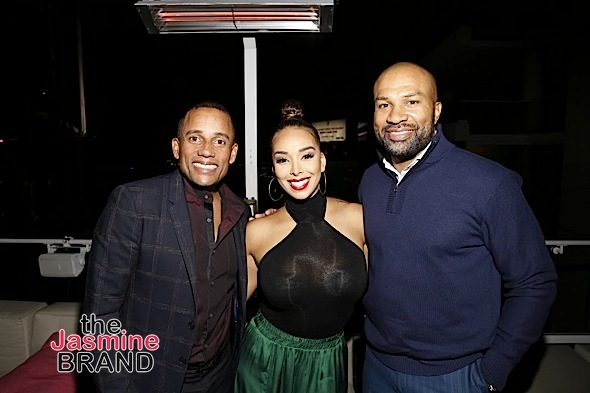 HOLLYWOOD, CA - DECEMBER 05: Event host committee Hill Harper, Gloria Govan and Derek Fisher seen at Hill Harper & Nate Parker 9th Annual Manifest Your Destiny Toy Drive & Fundraiser at the W Hotel on Tuesday, December 5, 2016 in Hollywood, California. (Photo by A Turner Archives)