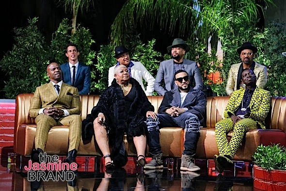 HOLLYWOOD, CA - DECEMBER 10: The Rosters (Back L-R) Tony Hinchcliffe, Paul Rodriguez, DeRay Davis, Mike Epps, Terry Crews, Luenell, French Montana and Michael Blackson at Snoop Dogg Smoked Out Roast and Birthday Celebration TV Special taped at the Avalon as seen on Fusion TV Saturday, December 10, 2016 in Hollywood, California. (Photo by A Turner Archives)
