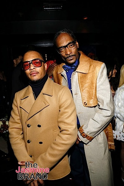 HOLLYWOOD, CA - DECEMBER 10: TI and Snoop backstage at Snoop Dogg Smoked Out Roast and Birthday Celebration TV Special taped at the Avalon as seen on Fusion TV Saturday, December 10, 2016 in Hollywood, California. (Photo by A Turner Archives)