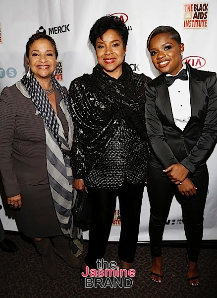 WEST HOLLYWOOD, CA - DECEMBER 01: Debbie Allen, Phylicia Rashad and Bre-Z seen at the Heroes In The Struggle Gala at the Director's Guild Of America on Thursday, December 1, 2016 in West Hollywood, California. (Photo by A Turner Archives)