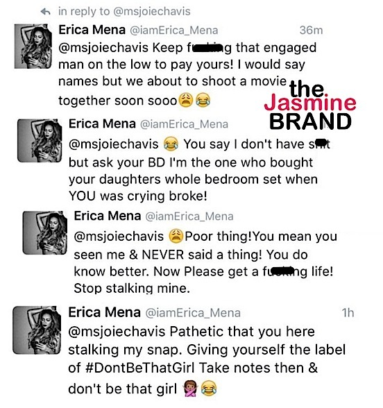 Erica Mena & Bow Wow's Baby Mama Joie Chavis Drag Each Other: You have no career!