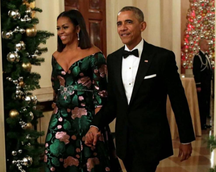 [First Lady Fashion] Michelle Obama Stuns In Gucci For Final Kennedy Center Honors Gala